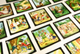 Magic lantern slides, telling the story of Alice in Wonderland, on display at the Museum of...