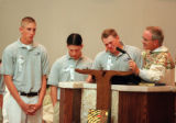 RMN102- Today was the funeral mass for Matt J. Kechter, one of the victums of the Columbine High...