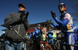 Hundreds of bike riders gathered at the corner of 375 McCaslin Blvd. in Louisville to ride to the...