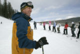 Todd Metz checks in on ski school classes at  Winter Park, Friday February 14, 2009. Todd Metz is...