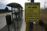 A sign and pay box at the RTD Park and Ride at 84th and I-25 in Thornton  Monday February 2, 2009....