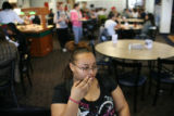 Toswanette Neal talks to a reporter at the cafeteria at Colorado State University in Pueblo on...