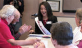 Miss Loveland  Valentine Victoria Fischer (cq) laughs as she officially began the Valentine...