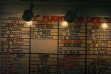 A schedule of the flight crew is displayed at the control room at St. Anthony Central Hospital in...