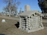 Photo by Julie Hutchinson  This limestone cabin marks the grave of Black Hawk mining pioneer  ...