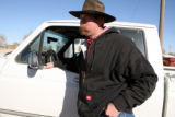"Rancher Eric Tucker (cq) in Lajunta  on Thursday February 5,2009.Tucker said ""lack of water..."