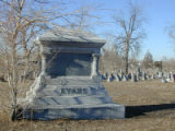 The grave marker of Colorado Territorial Gov. John Evans and his wife,   Margaret. Evans was...