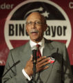 MIPS104 - Detroit mayoral candidate Dave Bing speaks to suporters at a primary election night...