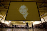 DM3305  A photograph of Rachel Scott, the first student killed at Columbine High School, is...