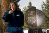 430  Kelly Grizzell,  visits the grave site of her daughter, Stephanie Hart Grizzell, 16, and...