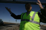 Dave Kristick (cq), Director of Operations at E470 Public Highway Authority stands near a toll...