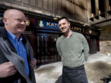 Paul Maye, Pres. and John Ruane Ex. Chef stand at the soon to open Katie Mullen's in Denver, Colo....