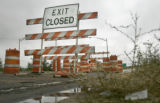 Northbound Sante Fe A exiting onto southbound I-25 in Denver is closed and is listed in a new...