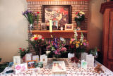 RMN106--4/22/99:  An impromptu memorial honoring Dan Rohrbough is set up inside the home of his...