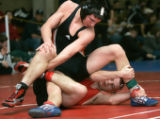 0018 (160lbs) Cortez's Austin Sanders, top, beats Lovland's Caleb Tebbe, bottom, 11-0 at the Top...