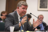 Rep. Douglas Bruce (cq)  testifys before a special House Committee at the state capital Friday...