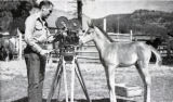 "Some behind-the-scenes activity with cameraman Jack Kuhne during the filming of ""Sons of..."