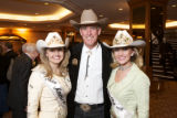 (Denver, Colo., Jan. 16, 2008) Amy Wilson (Miss Rodeo America, from Kansas), Pete Coors, and Stacy...