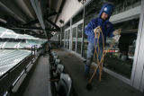 at Coors Field in Denver, Colo. Tuesday, February 5, 2008.  Nine luxury boxes along the first base...