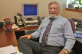 Doug Hawk (cq), Manager of Communications of the  Community College System of Colorado, in his...