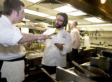VAIL - Sweet Basil restaurant executive chef Paul Anders discusses romaine lettuce grilling during...