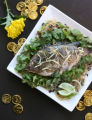 Food made with ginger from the restaurant Parallel 17.  Ginger-poached tilapia.  (ELLEN...