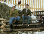 Steve DeLine (cq), left, and his son Ben DeLine, Tuesday afternoon, January 23, 2008, at their...