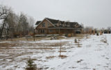 (Easement 3) The home of Rodney Atherton, sits at the end of West 87th Ave, Friday morning,...