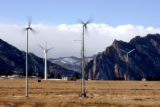 Wind turbines being  testing at NREL's National Wind Technology center in Golden Tuesday, January...