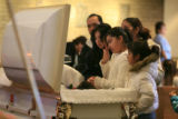 ANGELICA FUNERAL+50995  Friends and family mourn during the funeral for 11-year-old Angelica...