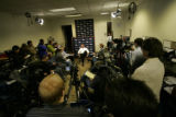 0175 Denver Broncos head coach Mike Shanahan address the media about the 2007 season and what the...