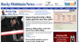 Screenshot of RockyMountainNews.com homepage as it appeared a few hours before the launch of the...