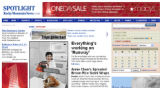 Screenshot of the RockyMountainNews.com spotlight home as it appeared a few hours before the...
