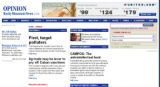 Screenshot of RockyMountainNews.com editorial page as it appeared a few hours before the launch of...