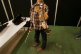 0262 0262 Dale McCurdy, 5, of Franktown, practices for a performance with the Fiddlocity Fiddle...