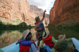 (NYT71) GRAND CANYON NATIONAL PARK, Ariz. -- Oct. 5, 2005 -- GRAND-CANYON-RELIGION-4 --Dr. Charlie...