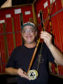 Jeff Hatton, of Paonia, prefers the responsiveness of wood-handled fly rods over cork handles....