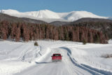 A truck heads east on county road 83, toward the Continental  Divide, Monday afternoon, January...