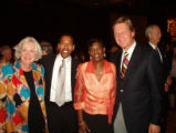 Pauls, etc: l-r is Verna Pauls (wife of UpLIFT chairman Bill Pauls), Board member and First Data...