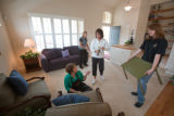 (Arvada, Colorado, April 11, 2008) Clockwise from lower left:  House stagers Trish Pachak, Vicki...