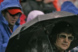 Rain and cold weather didn't keep Nobie Gomez (cq), 47, of Raton, NM., who decided to dress as...