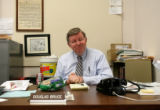 (PG0053) Rep. Douglas Bruce talks to reporters at his office in the State House on Monday, April...