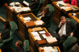 (PG0145) Rep. Douglas Bruce sits on the House floor at the State House on Monday, April 21, 2008....