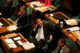 (PG0148) Rep. Douglas Bruce sits on the House floor at the State House on Monday, April 21, 2008....