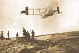 Orville Wright soars over Kitty Hawk, N.C., October 1911.