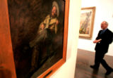 Mark Bockrath from West Chester PA, looks at a new Thomas Eakins painting aquisition hanging  in...