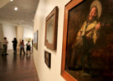 A new Thomas Eakins painting aquisition hangs in the Western American Art gallery Wednesday April...