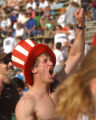 [Boulder, CO - Shot on: 5/31/04]  Roger Serrette, 35, of Longmont yells with passion as he crosses...