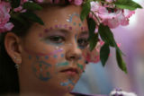 MJM562  Van Arsdale School's Erika Middleton (cq), 12, waits to perform A Midsummer Nights Dream...