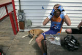 Will Frischkorn, road captain with Team Slipstream/Chipotle, takes a break while training in the...